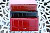 Кошелек balisa женский модный под рептилию бордовый, фото 6