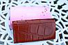 Кошелек balisa женский модный под рептилию бордовый, фото 2