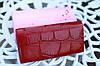Кошелек balisa женский модный под рептилию бордовый, фото 10