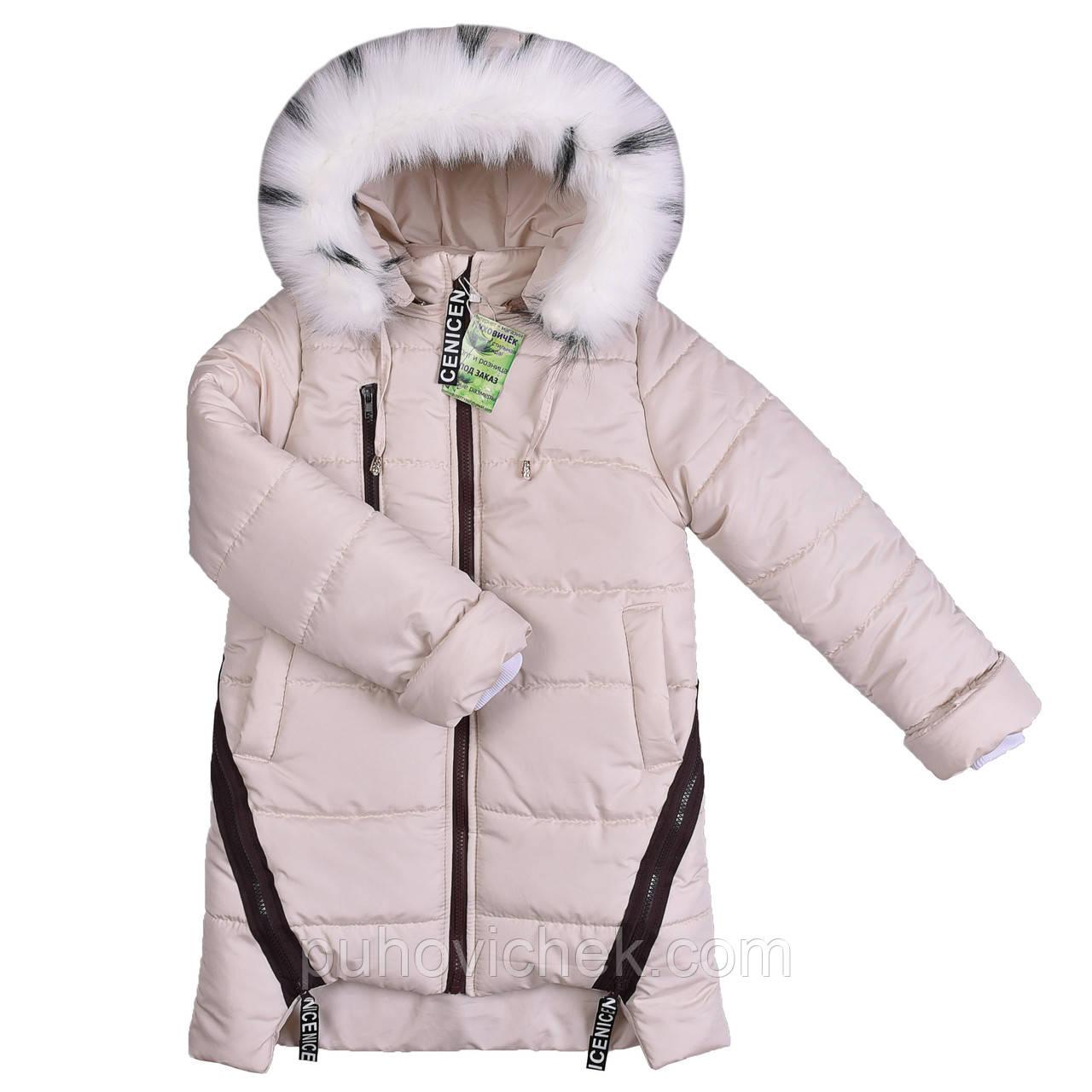 Красивые детские куртки и пальто зимние с мехом 57
