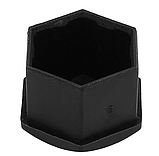 Защитные пластиковые крышки на колесные гайки 19 мм черные, фото 5