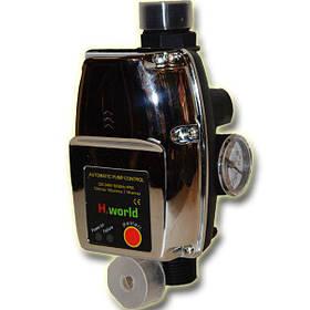 Автоматика для насосов H.World PC-15 с защитой от сухого хода пресс контроль