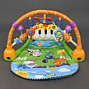 Килимок-развивашка для немовляти з брязкальцями проигрывет мелодії світиться, фото 2