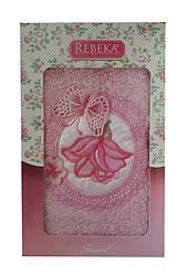 Махровий рушник 50*90 Rebeka Туреччина в подарунковій упаковці