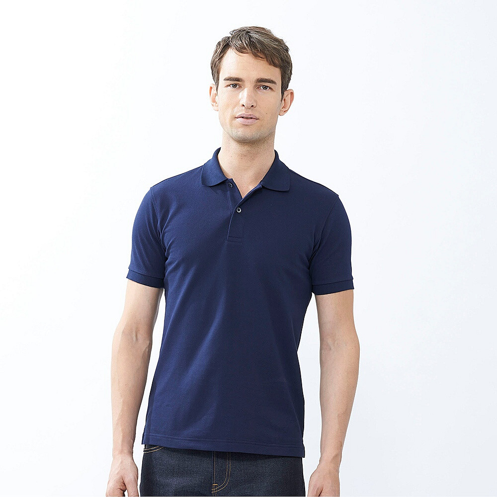 Футболка Uniqlo Men Polo Dry Pique NAVY