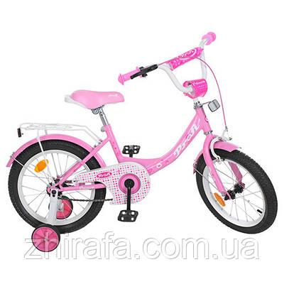 """Двухколесный велосипед  Profi Princess  14"""" Розовый"""