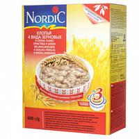 "Хлопья ""4 вида зерновых"" Nordic, 600 гр"