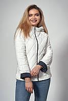 Женская демисезонная куртка. Код модели К-120-37-20. Цвет молочный.