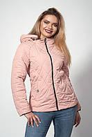 Женская демисезонная куртка. Код модели К-120-37-18. Цвет темная пудра.