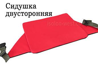 Сидушка двусторонняя, износостойкая, красно-оливковый цвет 38х29 см