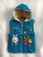 Жилетки детские оптом, подкладка флис (3-5 лет) купить со склада в Одессе 7 км