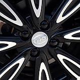 Защитные пластиковые крышки на колесные гайки 19 мм черные, фото 4