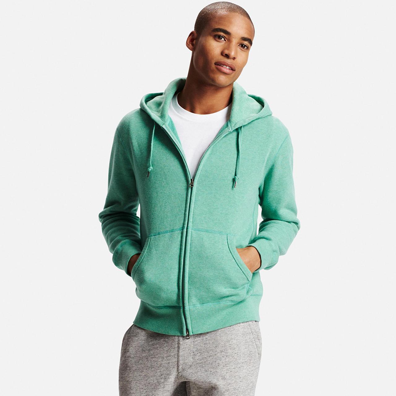 Кофта Uniqlo Men Zip-Up Hoodie GREEN