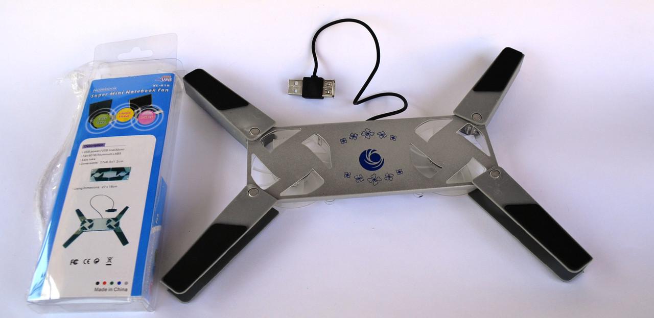 Подставка-куллер для ноутбука портативная олаждающая