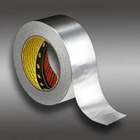 Клейкая лента 3M 1436F (50 мм х 50 м х 0,075 мм) На основе алюминиевой фольги.Односторонняя. 1436