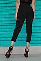 Черные  женские брюки на высокой талии, фото 3