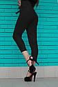 Черные  женские брюки на высокой талии, фото 2