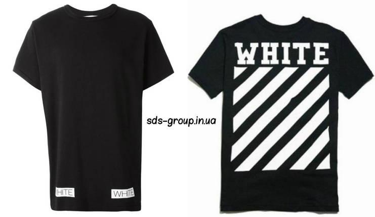 Футболка OFF WHITE черная с логотипом мужская,женская,детская, фото 2