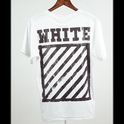 Футболка Off White Framed Stripe T-Shirt (White) мужская,женская,детская, фото 2