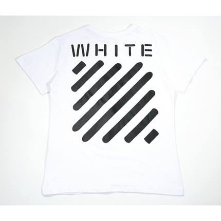 Футболка Off White Stripe Label T-Shirt (White) мужская,женская,детская, фото 2