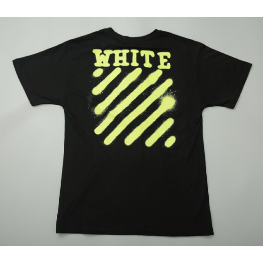 Футболка Off White Spray Paint Label T-Shirt (Black)  мужская,женская,детская