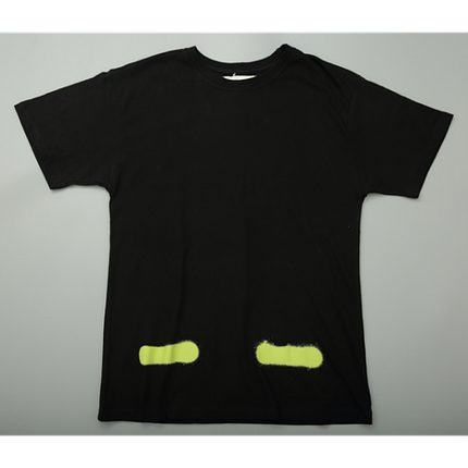 Футболка Off White Spray Paint Label T-Shirt (Black)  мужская,женская,детская, фото 2