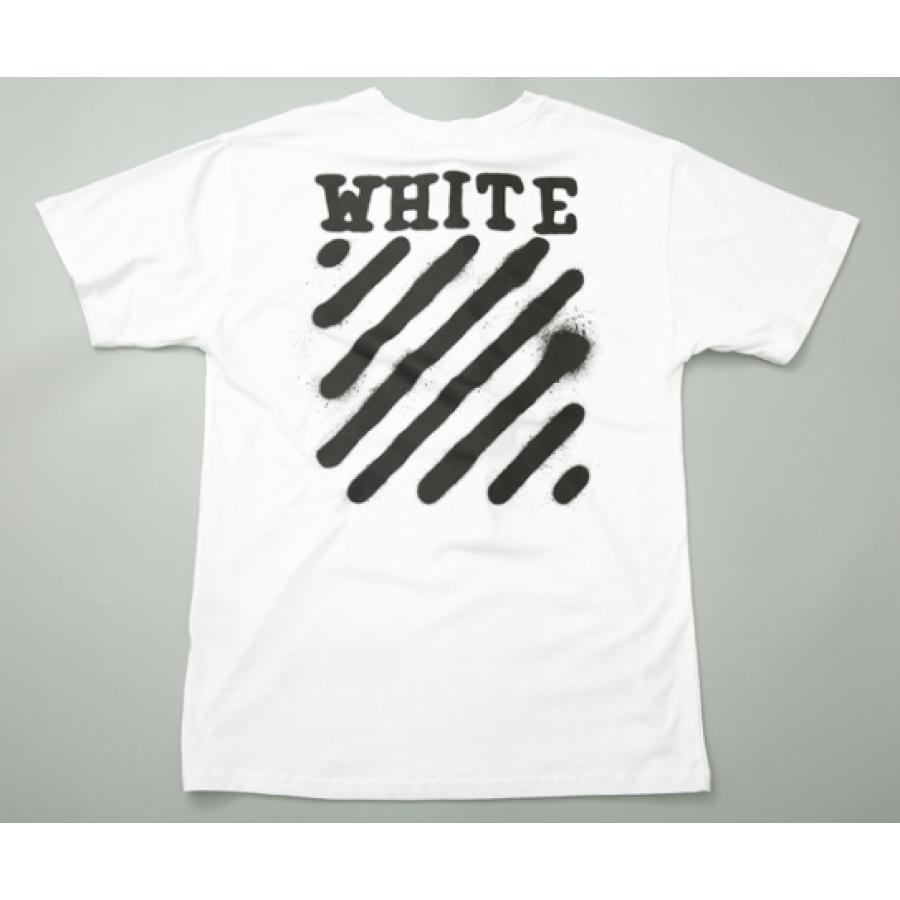 72fd5e6ad0ab6 Футболка Off White Spray Paint Label T-Shirt (White) мужская,женская ...