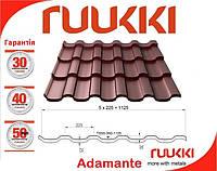Фінська черепиця RUUKKI Adamante RR 750 теракотовый 0.5 mat Ruukki 50 plus