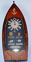 Ключница Корабль на 6 крючков с часами