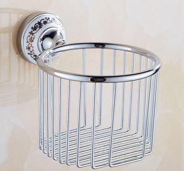 Настенный подвесной держатель рулона туалетной бумаги хромированный 0554