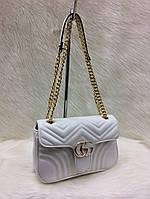 Сумка-клатч на цепочке Gucci Гуччи цвет белый, фото 1