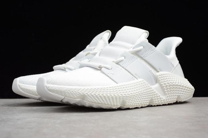 Мужские кроссовки Adidas Prophere  'All White' (реплика)