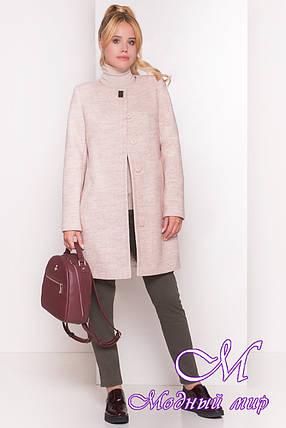 Женское бежевое осеннее пальто (р. S, M, L) арт. Фортуна 1622 - 9514, фото 2