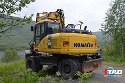 Колёсный экскаватор Komatsu PW160W (2012 г), фото 2