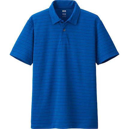 Футболка поло Uniqlo Men Polo Dry EX BLUE, фото 2