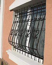 Решетка на окно металлическая кованая 03
