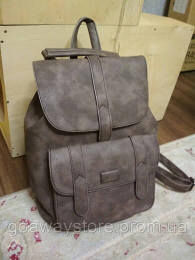 1fbb01ce131c Стильный женский рюкзак Toposhine из эко кожи коричневый кофе - GO AWAY  STORE в Киеве