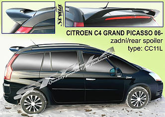 Спойлер на крышку багажника тюнинг Citroen C4 CRAND PICASSO