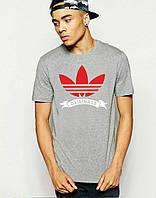 Мужская спортивная футболка с принтом адидас,Adidas(реплика)