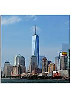 Фотокартина на холсте Нью-Йорк высотки, 100*100 см