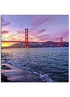 Фотокартина на холсте Мост Золотые Ворота, 100*100 см