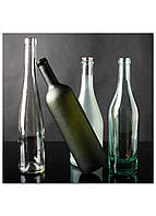 Фотокартина на холсте Натюрморт из бутылок, 100*100 см