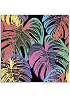 Фотокартина на холсте Тропические листья, 100*100 см