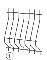 Металлическая решетка на окно кованая 1