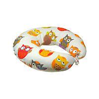 Подушка для кормления ребенка, для беременных сатин Совы