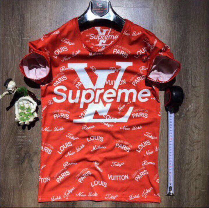 d62135032ac8 Мужская футболка Supreme X Louis Vuitton (реплика) - Интернет-магазин вещей  Stelar в
