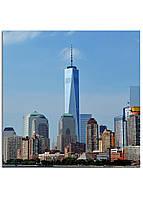 Фотокартина на холсте Нью-Йорк высотки, 25*25 см