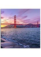 Фотокартина на холсте Мост Золотые Ворота, 25*25 см