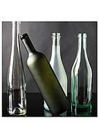Фотокартина на холсте Натюрморт из бутылок, 25*25 см
