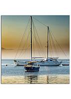 Фотокартина на холсте Яхта, 25*25 см